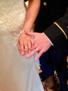 Military marriage ceremony Asheville